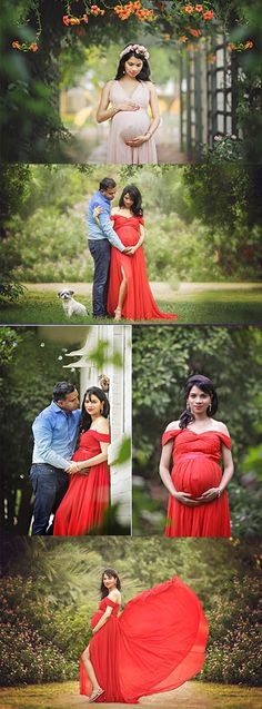 Maternity photography poses with dad and dog. Gorgeous maternity photos by Phoenix Maternity Photographer Cozy Clicks. Phoenix maternity photography at Manistee Ranch