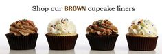Bakers Stock - Brown Cupcake Liners