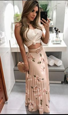 Floral Print Pleated Maxi Skirts Autumn fashion Hoodie dress fashion Bodycon dress Fashion outfits Clothes for women Fashion dresses Knee length dresses Spaghetti strap Mode Outfits, Night Outfits, Skirt Outfits, Classy Outfits, Spring Outfits, Dress Skirt, Casual Outfits, Dress Up, Bodycon Dress