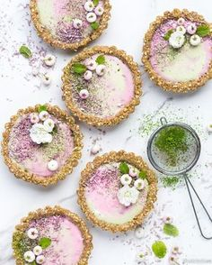 ... matcha und blackberry curd tarts gluten frei vegan ...