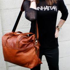 MM Weekender! www.marrakechmusthaves.nl #weekendbag #leather #handmade
