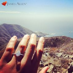 engagement ring perfection! pear pave halo diamond ring is from james allen