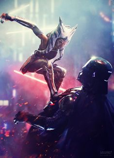 """I am no jedi"" - Ahsoka Tano vs Vader, Saby Menyhei - Star Wars Star Wars Jedi, Star Wars Rebels, Darth Vader Star Wars, Anakin Vader, Darth Vader Artwork, Star Wars Logos, Star Wars Tattoo, Star Wars Poster, Star Wars Fan Art"