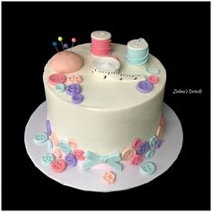 Sewing Cake, Custom Cakes, Desserts, Food, Personalised Cakes, Postres, Personalized Cakes, Deserts, Hoods