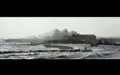 Storm batters UK. The harbour at Lyme Regis, Dorset, didn't escape the raging sea