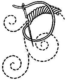 LOOPED STITCHES: vocabulary 3: Rope Stitch by Mrs. A. Christie London 1920