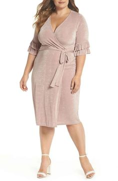 The Wrap Dress by Lost Ink for  58 is the perfect fall dress in a pink 3cb63a428