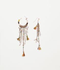 chain and stone earrings