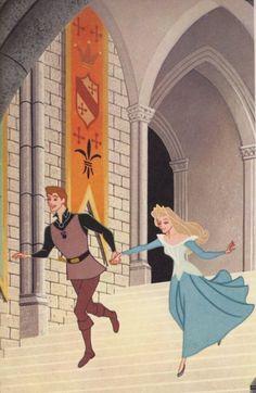 Disney's Sleeping Beauty original book artcover (1959). THE DRESS IS BLUE!