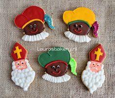sinterklaas en zwarte piet koekjes - a Dutch holiday