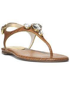 77fd0904ba8 MICHAEL Michael Kors Jayden Flat Thong Sandals   Reviews - Sandals   Flip  Flops - Shoes - Macy s