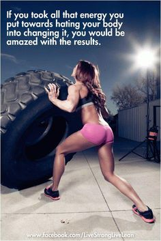 Put your energy into good things! Now that is a healthy body!