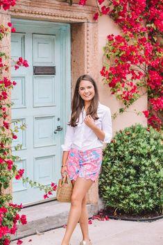 Palm Beach Style – Emily g. Palm Beach, Preppy Summer Outfits, Summer Outfits Women, Beach Outfits, Adrette Outfits, Fashion Outfits, Stil Inspiration, Miami, Fashion Mode