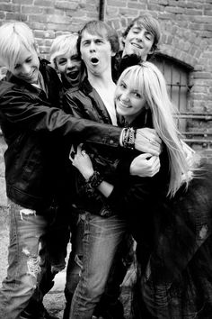 (left to right) Riker, Ross, Ratliff, and Rocky.  Don't forget about Rydel ( bottom)