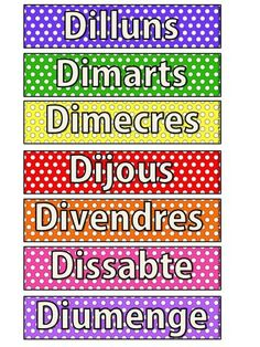 Dies de la setmana GRATIS! Classroom Routines, Daily Routines, Class Rules, Days Of Week, Free Day, Nature Study, Learn To Read, Classroom Organization, Phonics