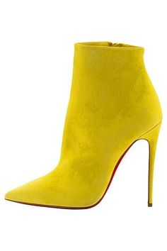 21d10620884b Christian Louboutin Yellow Suede Ankle Boots Spring Summer 2014 S✧s
