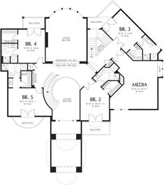 Traditional Plan: 6,497 Square Feet, 5 Bedrooms, 6.5 Bathrooms - 2559-00593 Dream House Plans, House Floor Plans, 5 Bedroom House Plans, Discount Bedroom Furniture, I Love House, Two Story Foyer, European House Plans, Monster House Plans, Basic Kitchen