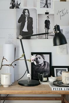 Stil Inspiration -m essy, inspiring corner Home Office Space, Office Workspace, Home Office Design, Home Office Decor, House Design, Bedroom Workspace, Office Ideas, Stil Inspiration, Workspace Inspiration