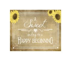 Sweets Bar sign for Wedding  A Sweet ending to a by PSPrintables