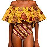 HP95(TM) Women Print Strapless High Waist Bottom Bikinis set Swimwear Swimsuit (US Size:12-14, Orange)   Support Type:Wire Free Occasion: Summer,Daily,Swimming pool ,Sea Style: Sexy,Causal Package include: 1 Set Bikini Swimwear  HOW TO MEASURE FOR TOP  Your Bust  Measure across the fullest part...