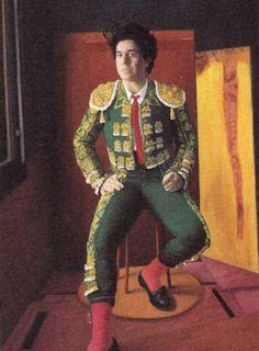 Pedro Almodovar with torero costume