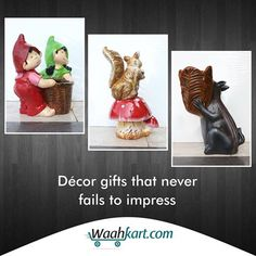 Gifts are not mere products but, are your token of love, which must be accepted by the recipients open heartedly. Gift your loved ones something that never fails to impress. Check out our wide range of gift products that surely will win your & your loved one's, heart.  #DecorGifts #GiftsProducts #WaahKart #OnlineShoppinginIndia