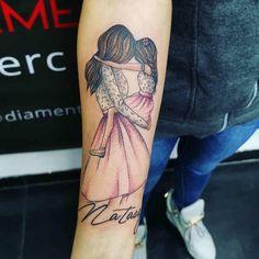 Mutterschaft Tattoos, Baby Feet Tattoos, Baby Name Tattoos, Mommy Tattoos, Family Tattoos, Sister Tattoos, Mini Tattoos, Body Art Tattoos, Tatoos