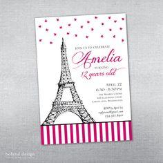Soft pink stripes gold paris party photo invitation personalized soft pink stripes gold paris party photo invitation personalized pink stripes and party photos solutioingenieria Choice Image