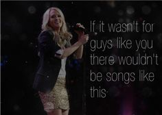 Carrie is right.... Heatache, breaking up, and cheating does create some pretty damn good music!