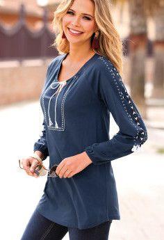Tričko sa strapčeky Knitted Shawls, Tunic Tops, Bikini, Blouse, Long Sleeve, Sleeves, Women, Fashion, Knit Shawls