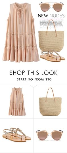 """""""Nude 1868"""" by boxthoughts ❤ liked on Polyvore featuring Target, K. Jacques and Christian Dior"""