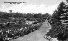 The glen pathway, Como Park, St. Paul, 1910