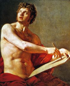 Jean Auguste Dominique Ingres - Academic Study of a Male Torse, 1801, oil on canvas, 97 x 80 cm