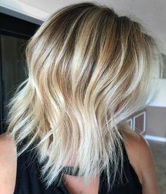 Textured Blonde Balayage Lob