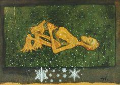 by Hugo Simberg – Odilon Redon, Yellow Art, Winter Art, Memento Mori, Close To My Heart, Painting Inspiration, Baroque, Canvas Prints, Symbols
