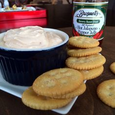 quick and easy pepper jelly dip! TWO ingredients.  delicious and simple