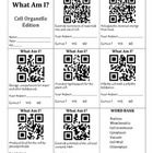 QR Codes & Cell Organelle Vocabulary Free Qr Code, Photosynthesis, Student Reading, Vocabulary Words, Qr Codes, Definitions, Biology, Teacher Pay Teachers, Classroom Ideas