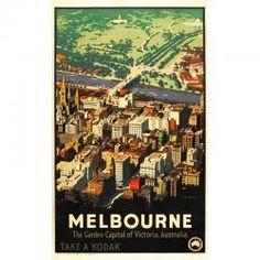 Melbourne Vintage Poster