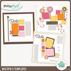 Multipix 5 Templates :: Gotta Pixel Digital Scrapbook Store  $3.50