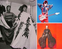 japanese designer kansai yamamoto & david bowie