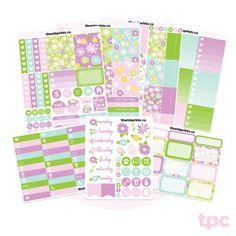 K01 // Bloom No White Space Full Weekly Kit // Sticker Kit for Vertical Erin Condren Life Planner