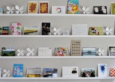 Young House Love | How To Make Wall Shelves For Postcards and Art (It's Easy!) | http://www.younghouselove.com