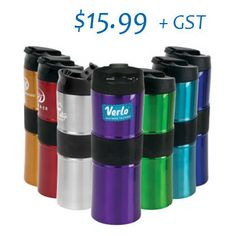 March Promotion $15.99, Minimum 24 pieces. Laser Engraved Logo.16 oz Kirra Vacuum Tumbler. Made with FDA compliant materials and 18-8 Stainless Steel. Dual wall vacuum insulated for maximum heat retention to keep your drink hot for up to 8X longer. Featuring; a textured rubber grip in the middle of the tumbler to provide supreme comfort and grip, our patent pending flip top lid design with snap locking closure to prevent drinks from spilling and a lip groove that allows you to position the… Advertising Slogans, Quality Logo Products, Business Logo, Drinking Water, Laser Engraving, Drinkware, Red Bull, Wall Design, Tumbler