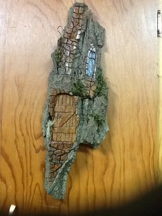 Little door.  Bark carving by And Wei.  Wow!