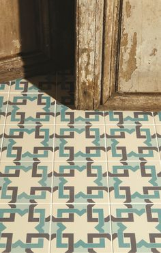 A closeup shot of the gorgeous detailing in the blue Ottoman tiles from the Odyssey collection. Also available in summer yellow with grey. By Original Style.