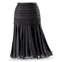 Black Gored Skirt - New Age, Spiritual Gifts, Yoga, Wicca, Gothic, Reiki, Celtic, Crystal, Tarot at Pyramid Collection