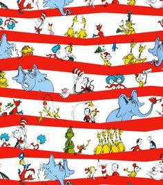 Dr. Seuss Stripe Fabric Cotton Fabric