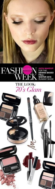 See which #AvonMakeup products Avon Global Celebrity Makeup Artist Lauren Andersen used to create the look for Dennis Basso's Fall/Winter 2015 runway show at #NYFW.