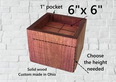 6 x 6 Solid wood furniture/bed riser sold Furniture Risers, Bed Risers, Solid Wood Furniture, Handmade Furniture, Bed Furniture, Custom Furniture, Wood Stain Colors, Round Beds, Laser Engraving