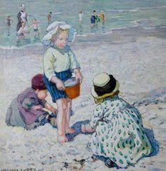 Dorothea Sharp (1874–1955) Making Sandcastles